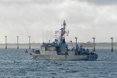 IMG_3513aa_DxO     *** Best viewed full screen *** (alanbryherhowell) Tags: portsmouth solent navy french warship frigate corvette f793 blaison commandant