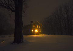 Winter's Back! (Matt Champlin) Tags: frogpond skaneateles home life winter cold snow snowy snowstorm nature landscape outdoors house warm warmth glow beautiful rural ny canon 2020