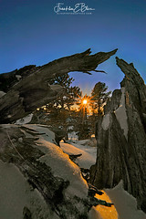 Stumped by the Sunrise (franklin331) Tags: backcountry bliss aspect blissdinosaurranch blissphotographics image branches border frame land following borderlands fridayfun closefar frankbliss followfriday diffractionstar fridayreads blissranch franklinebliss wood sunset snow landscape photo scenery montana perspective scenic snag ranchlands snaggy sonyalpha landscapeladder wyoming