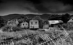 Abandoned Tralee & Dingle carriages, Blennerville, Co Kerry, Ireland. (2c..) Tags: tralee dingle narrow gauge railway rail road preserved abandoned blennerville kerry ireland disused 2c 2cimage black white carraiges best moody