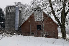 Left Alone (henryhintermeister) Tags: barns minnesota oldbarns clouds farming countryliving country sunsets storms sunrises pastures nostalgia skies outdoors seasons fields hay silos dairybarns building architecture outdoor winter serene grass landscape plants cloudsstormssuns stanchfieldmn