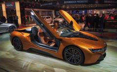 BMW i8 (try...error) Tags: coupe roadster car mondial wien vienna vienne austria door orange sportscar hybrid