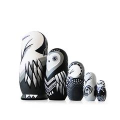 DSC08184 (fortmoon) Tags: monochrone shades art woodendolls owls black white wooden fortmoon ecofriendly etsy artdoll customorder painted