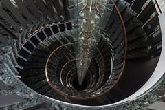 -Pe·ne·t·ra·ti·on- (michael_hamburg69) Tags: hamburg germany deutschland stairs staircase treppe hammerbrookstrase69 beleuchtung light lamp lampe energiesparlampe veolia wendeltreppe photowalkmitelbmaedchen unterwegsmitjutta stairway spiral wendel helix hammerbrook citysüd