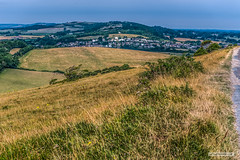 Photo of The village of Brading from Bembridge Down, Isle of Wight.