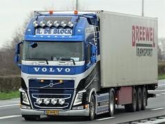 Volvo FH4 globetrotter from R. de Block Holland. (capelleaandenijssel) Tags: 80bhr5 truck trailer lorry camion lkw netherlands nl breewel