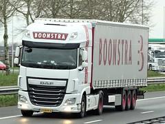 DAF XF116 superspacecab from Boonstra Haulerwijk Holland. (capelleaandenijssel) Tags: 23bhn6 truck trailer lorry camion lkw netherlands n krone