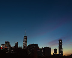 The World Trade Center (joe holmes) Tags: worldtradecenter sunset watertower newyorkcity nyc
