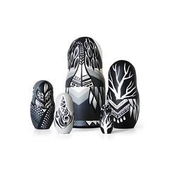 DSC08206 (fortmoon) Tags: monochrone shades art woodendolls owls black white wooden fortmoon ecofriendly etsy artdoll customorder painted