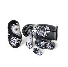 DSC08201 (fortmoon) Tags: monochrone shades art woodendolls owls black white wooden fortmoon ecofriendly etsy artdoll customorder painted