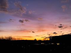 Friday sunrise (frankdorgathen) Tags: iphone8plus ruhrgebiet ruhrpott bochum landschaft landscape silhouette winter clouds wolken himmel sky dawn sonnenaufgang sunrise