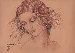 Leonardo (annienoelle.garand) Tags: aquarelle dessin sanguines