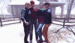 four of ten (Joshua 2.0) Tags: secondlife sl twink gay blonde brother family