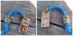 Persoanlized mokume tag/pendent (Non Ferrous Art by DB) Tags: edc everydaycarry bassart patina nautical mandmade men custom anchor edcart madeintheusa nonferrousmetal 1ofakind personalized mokume mokumegane dogtag
