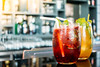 Have a great #weekend 🍹 (Holiday Inn Sofia) Tags: alcohol alcoholic background bar barman beverage cocktail cocktails cold drink fruit garnish glass green ice juice liquid liquor mint party red refreshment restaurant vodka water
