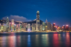 Hong Kong and the blue hour (Luís Henrique Boucault) Tags: sky urban peak background colorful asia harbour metropolis perfectview abstract travel vacation scene victoria cityscape exterior sunnyday tourism skyline highrisebuildings waterfront chinese traveldestinations office breathtakingview finance sea mountain night magichour building breathtakingscenery city hongkong mongkok business asian tower landscape busy modern kong downtown architecture china traveling starferry financialdistrict harbor peninsula