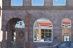 CLINCH VALLEY BANK (SneakinDeacon) Tags: sevenrestaurant reflections clinchvalley bank mainstreet smalltown hometown