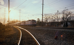 From The South Leg (DJ Witty) Tags: amtrak railroad photography pentaxk1000 rr aem7 electriclocomotive