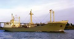 MV 'Baltic Star', Kiel Canal, Rendsburg  1962 (Diepflingerbahn) Tags: rendsburg kielcanal nok nordostseekanal schleswigholstein germany mvbalticstar mvskopelossky epsonv800 braunpaxette1