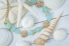 Beach Bling (lclower19) Tags: necklace aquamarine beach glass shells jewelry 120in2020 5