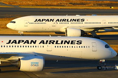 A..B...or... (Manuel Negrerie) Tags: 日本航空 a350 777 jal hnd airport jetlliners airliners planes aviation design widebody spotting sight avgeeks livery japan japanairlines airbus boeing ja03xj travel asia transport technology carbon aluminum metal airplanes canon photography