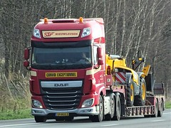 DAF XF116 superspacecab from STe Holland. (capelleaandenijssel) Tags: 59bgs3 truck trailer lorry camion lkw netherlands nl flatbed