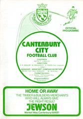 Canterbury City v Waterlooville (Havant & Waterlooville) Tags: havant waterlooville canterbury city southern league football programme