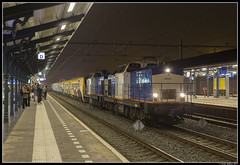 Volker Rail 203-5 + 203-2, Apeldoorn (J. Bakker) Tags: vr volker rail v100 203 2035 2032 ns nsr dm90 dm 90 3400 3424 3409 3406 3421 apeldoorn nederland 51962 hengelo amsterdam dijksgracht
