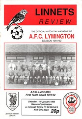 AFC Lymington v Havant Town (Havant & Waterlooville) Tags: havant waterlooville afc lymington wessex combination football programme