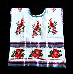 Mazatec Huipil Huautla Contemporary Oaxaca Mexico (Teyacapan) Tags: huipil mexican oaxaca ropa clothing flowers birds huautla mazatec embroidery