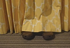 The Intruder in Room 311 (ricko) Tags: hotelroom 311 feet shoes curtain intruder crocs