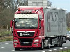 MAN TGX from Drost Romania. (capelleaandenijssel) Tags: sv62gdr ro truck trailer lorry camion lkw lion