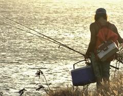 Going fishing (thomasgorman1) Tags: beach shore kepuhi fishing fisherman man sunset canon travel island molokai hawaii