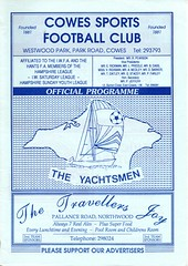 Cowes Sports v Havant Town (Havant & Waterlooville) Tags: havant waterlooville cowes sports hampshire youth league cup football programme