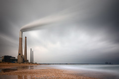 Cloud Maker (FX-1988) Tags: israel weather power staition clouds steam winter chimney industrial long exposure nd ndfilter filter pollution environment אורות רבין ישראל orot rabin smoke