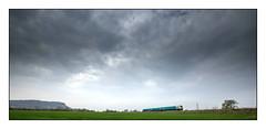 Big Sky Country (david.hayes77) Tags: helsbyhill frodsham godscroftlane cheshire bigsky 2014 atw arrivatrainswales class175 alstom coradia dmu