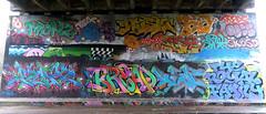 Graffiti in Amsterdam (wojofoto) Tags: amsterdam nederland netherland holland flevopark amsterdamsebrug hof halloffame graffiti streetart wojofoto wolfgangjosten trf mopz bread