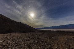 Death Valley Halo (CraDorPhoto) Tags: canon5dsr landscape nature outdoors outside barren rugged mountains valley deathvalley california usa sunhalo halo sun sky clouds