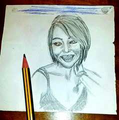 Sonrisas...  #portrait #drawing #art #draw #painting #retrato  #artist  #sketch #fanart #crayon #artlovers#drawings #painter #artstagram #bw #eyes#ojos #arte#girl #buonanotte #goodnight #bellezza #beautifulgirl#flickr #disegno#foto#photography (egc2607) Tags: photographie sketch disegno vsc eyes drawings goodnight retrato instagram art bw artlovers arte bellezza artist girl painter painting ojos drawing buenasnoches foto fanart buonanotte beautifulgirl portrait artstagram bonsoir crayon draw