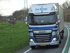 DAF XF116 superspacecab from van Rijssel Vlierden Holland. (capelleaandenijssel) Tags: 28bnh1 truck trailer lorry camion lkw netherlands nl