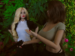 The Map! (Blondeactionman) Tags: bamhq bamcomix one six scale dinosaur valley diorama action figure doll phicen poppy parker agent of bam savannah addams