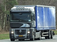 Renault AE Magnum from Unknown Holland. (capelleaandenijssel) Tags: bvgh60 truck trailer lorry camion lkw netherlands nl