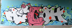 Graffiti in Amsterdam (wojofoto) Tags: amsterdam nederland netherland holland flevopark amsterdamsebrug hof halloffame graffiti streetart wojofoto wolfgangjosten moen