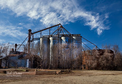 Abandoned Mill (Kool Cats Photography over 13 Million Views) Tags: mill architecture abandoned oklahoma clouds photography landscape trees