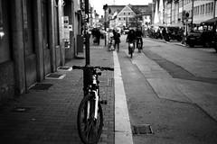 I want to ride my bicycle (Leica M6) (stefankamert) Tags: freising deutschland analog analogue film grain bicycle blackandwhite blackwhite street noiretblanc noir stefankamert leica m6 leicam6 summitar trix kodak blur blurry