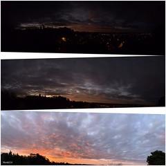La métamorphose d'un ciel. (murielle1957) Tags: groupenuagesetciel ciel couleurs métamorphose nuages lever jour