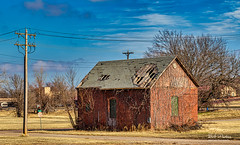 The Old Storage Building (Kool Cats Photography over 13 Million Views) Tags: architecture brick building landscape sky clouds trees oklahoma outdoor photography