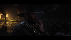 Arthur smoking casually (THEMCKING) Tags: rdr reddeadredemption2 rdr2 pc ansel arthurmorgan screenshot rockstargames outlawsforlife reddeadphotography gameplay