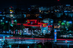 airport in and out (pbo31) Tags: sanfrancisco california nikon d810 color night black dark january 2020 boury pbo31 bayarea winter over lightstream motion traffic roadway inandout fastfood drivethrough millbrae sanmateocounty gas chevron