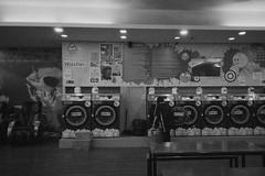 Laundromat Massage Chairs (Taomeister) Tags: kodaktmax3200 p3200 canonsureshotwp1